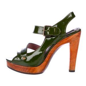 Derek Lam Patent Leather Platform Strap Sandals 6